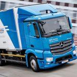 Mercedes'in elektrikli kamyonu eActros seri üretime hazır